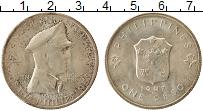 Изображение Монеты Филиппины 1 песо 1947 Серебро XF+ Генерал Дуглас  МакА