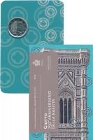 Изображение Подарочные монеты Сан-Марино Джотто ди Бондоне 2017 Биметалл UNC Монета номиналом 2 е
