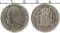 Изображение Монеты Испания 1 песета 1894 Серебро XF