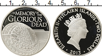 Изображение Монеты Острова Питкэрн 2 доллара 2013 Серебро Proof-