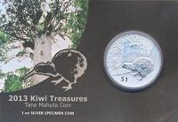 Изображение Подарочные монеты Новая Зеландия Киви 2013 Серебро Prooflike
