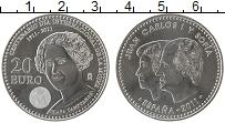Изображение Монеты Испания 20 евро 2011 Серебро UNC