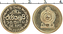 Изображение Мелочь Шри-Ланка 1 рупия 2011 Латунь UNC-