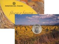 Изображение Подарочные монеты Италия 500 лир 1993 Серебро UNC Подарочный набор пос