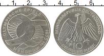 Изображение Монеты Германия ФРГ 10 марок 1972 Серебро XF+
