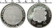 Изображение Монеты Европа Андорра 10 динерс 2003 Серебро Proof