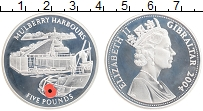 Изображение Монеты Гибралтар 5 фунтов 2004 Серебро Proof Елизавета II.  Малбе