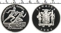 Изображение Монеты Ямайка 10 долларов 1986 Серебро Proof