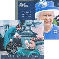 Изображение Подарочные монеты Великобритания 65 лет правления Елизаветы II 2017 Медно-никель BUNC Монета номиналом 5 ф