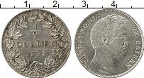 Изображение Монеты Германия Бавария 1/2 гульдена 1842 Серебро UNC-