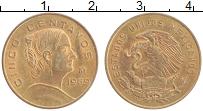 Изображение Монеты Мексика 5 сентаво 1969 Латунь UNC-