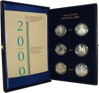 Изображение Подарочные монеты Италия VERSO IL 2000 2000 Серебро Proof Подарочный набор пос