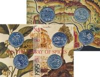 Изображение Подарочные монеты Португалия Корабли и мореплаватели 1995 Серебро UNC `Представляем Вашему