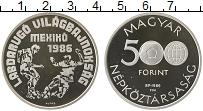 Изображение Монеты Европа Венгрия 500 форинтов 1986 Серебро Proof