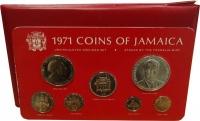 Изображение Подарочные монеты Ямайка Выпуск 1971 года 1971  UNC Подарочный набор 197