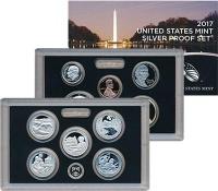 Изображение Подарочные монеты США Набор 2017 года 2017 Серебро Proof В набор входят десят