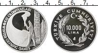 Изображение Монеты Турция 10000 лир 1988 Серебро Proof-