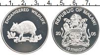 Изображение Монеты Малави 10 квач 2005 Посеребрение UNC Сохранение  дикой  ж