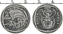 Изображение Мелочь ЮАР 2 ранда 2004 Медно-никель UNC 10 лет независимости