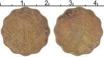 Изображение Монеты Индия 1 анна 1943 Латунь XF