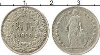 Изображение Монеты Европа Швейцария 1/2 франка 1929 Серебро XF