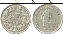 Изображение Монеты Европа Швейцария 1/2 франка 1963 Серебро XF