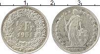 Изображение Монеты Европа Швейцария 1/2 франка 1951 Серебро XF