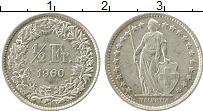 Изображение Монеты Европа Швейцария 1/2 франка 1960 Серебро XF