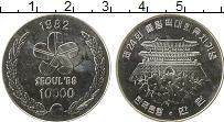 Изображение Монеты Южная Корея 10000 вон 1982 Серебро UNC-