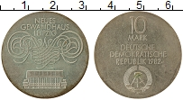 Изображение Монеты ГДР 10 марок 1982 Серебро UNC-