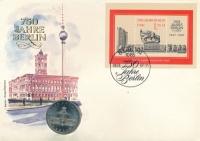 Изображение Подарочные монеты ГДР Красная ратуша 1987 Медно-никель UNC