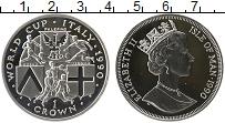 Изображение Монеты Остров Мэн 1 крона 1990 Серебро Proof Чемпионат Мира по фу