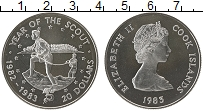 Изображение Монеты Острова Кука 20 долларов 1983 Серебро Proof-