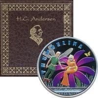 Изображение Подарочные монеты Фиджи Дюймовочка 2010 Серебро Proof- `Монета номиналом 1