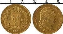 Изображение Монеты Европа Франция 40 франков 1818 Золото XF