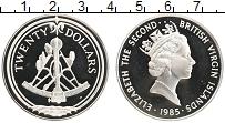 Изображение Монеты Виргинские острова 20 долларов 1985 Серебро Proof- Елизавета II.Сектант