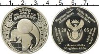 Изображение Монеты ЮАР 2 ранда 2005 Серебро Proof-