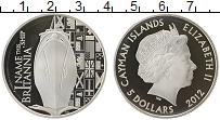 Изображение Монеты Каймановы острова 5 долларов 2012 Серебро Proof Елизавета II.  60 -