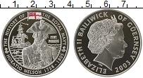 Изображение Монеты Великобритания Гернси 5 фунтов 2003 Серебро Proof