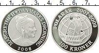 Изображение Монеты Европа Дания 100 крон 2008 Серебро Proof