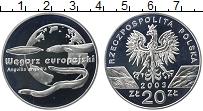 Изображение Монеты Польша 20 злотых 2003 Серебро Proof