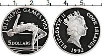 Изображение Монеты Острова Кука 5 долларов 1992 Серебро Proof