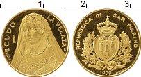 Изображение Монеты Европа Сан-Марино 1 скудо 1999 Золото Proof