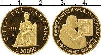 Изображение Монеты Европа Ватикан 50000 лир 1999 Золото Proof-