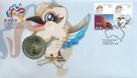 Изображение Подарочные монеты Австралия 1 доллар 2010 Латунь UNC