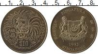 Изображение Монеты Азия Сингапур 10 долларов 1993 Медно-никель UNC