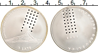 Изображение Монеты Латвия 1 лат 2002 Серебро UNC