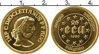 Изображение Монеты Бельгия 25 экю 1989 Золото UNC