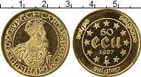 Изображение Монеты Бельгия 50 экю 1987 Золото UNC- Император  Карл V.