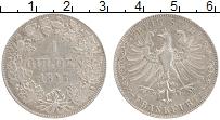 Изображение Монеты Франкфурт 1 гульден 1845 Серебро XF